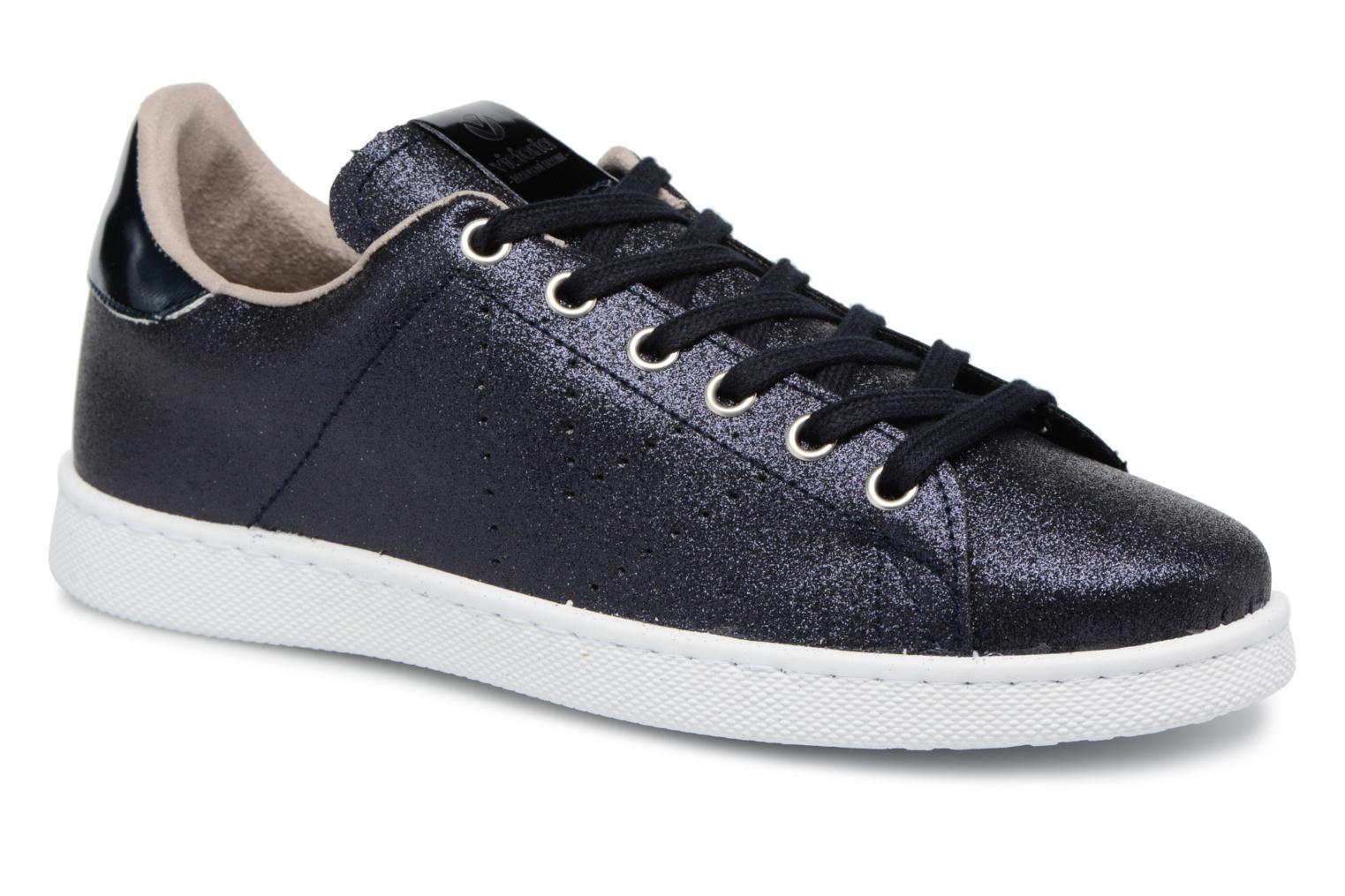 Trainers Victoria Deportivo Glitter Blue detailed view/ Pair view