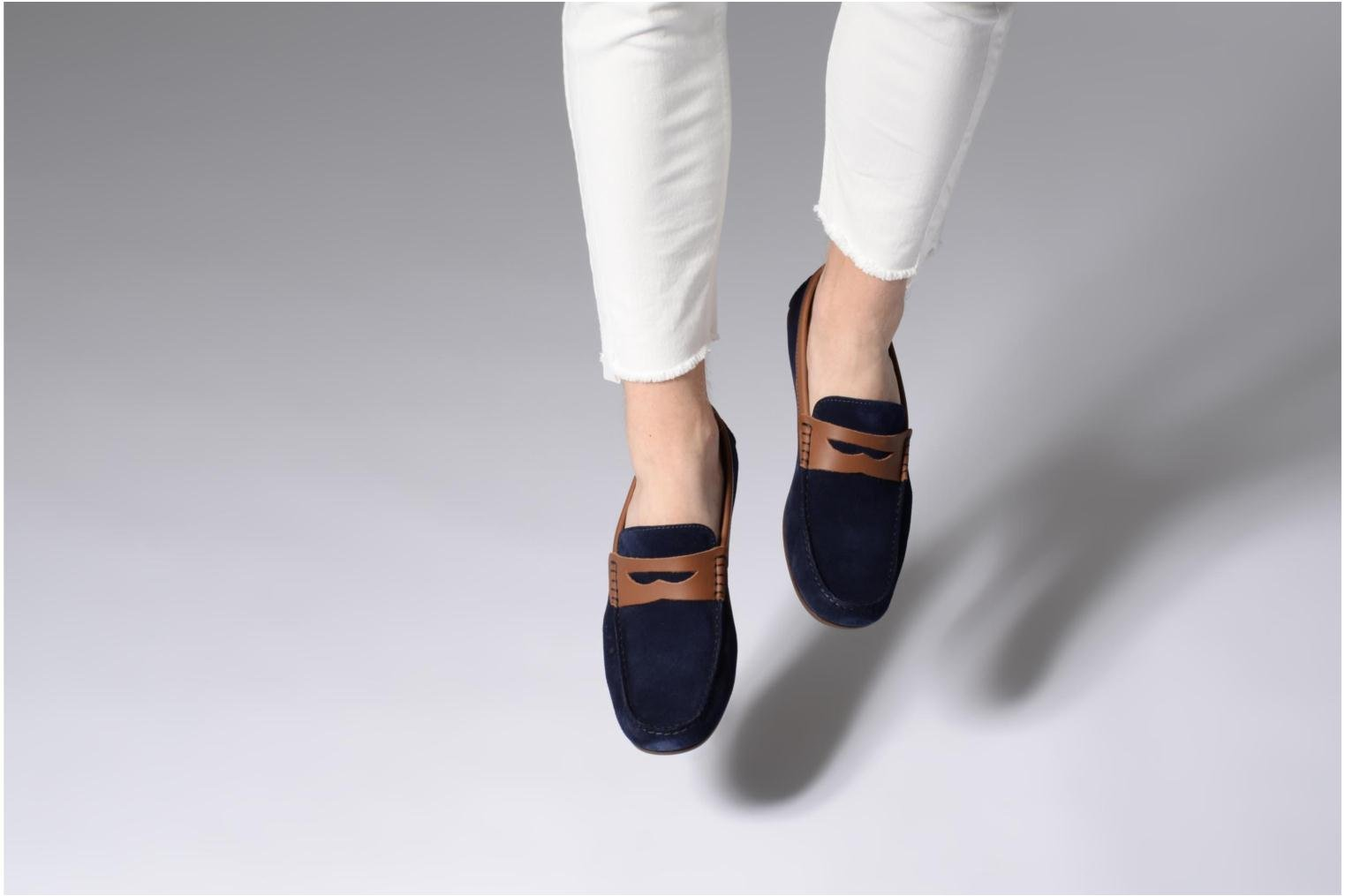 Loafers Marvin&co Scotland Blue view from underneath / model view