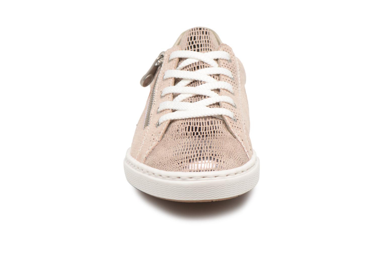 Baskets Rieker Brielle L0943 Rose vue portées chaussures