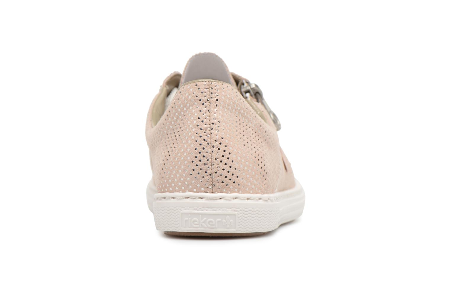 Trainers Rieker Brielle L0943 Pink view from the right