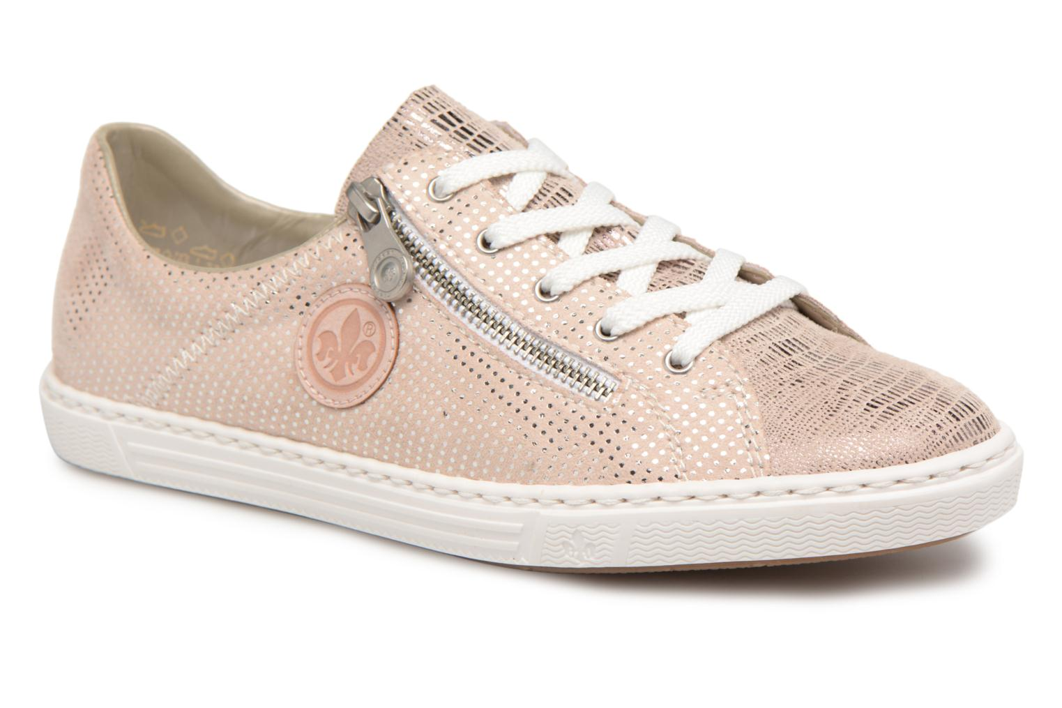 Trainers Rieker Brielle L0943 Pink detailed view/ Pair view