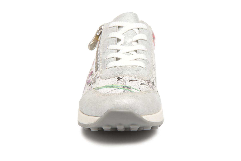 Baskets Rieker Trista K2801 Argent vue portées chaussures