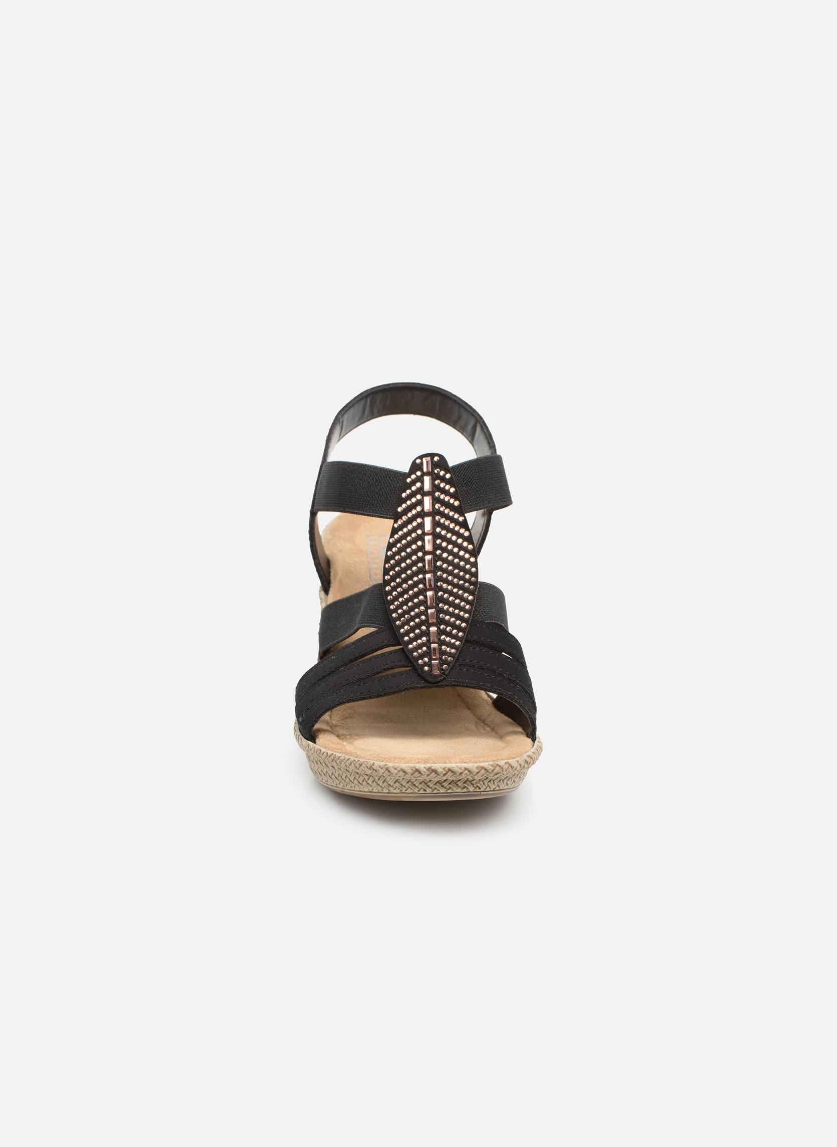 Sandales et nu-pieds Rieker Nayeli 66526 Noir vue portées chaussures