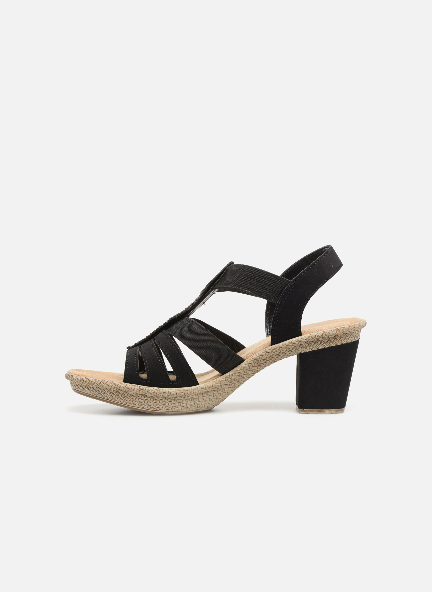 Sandales et nu-pieds Rieker Nayeli 66526 Noir vue face