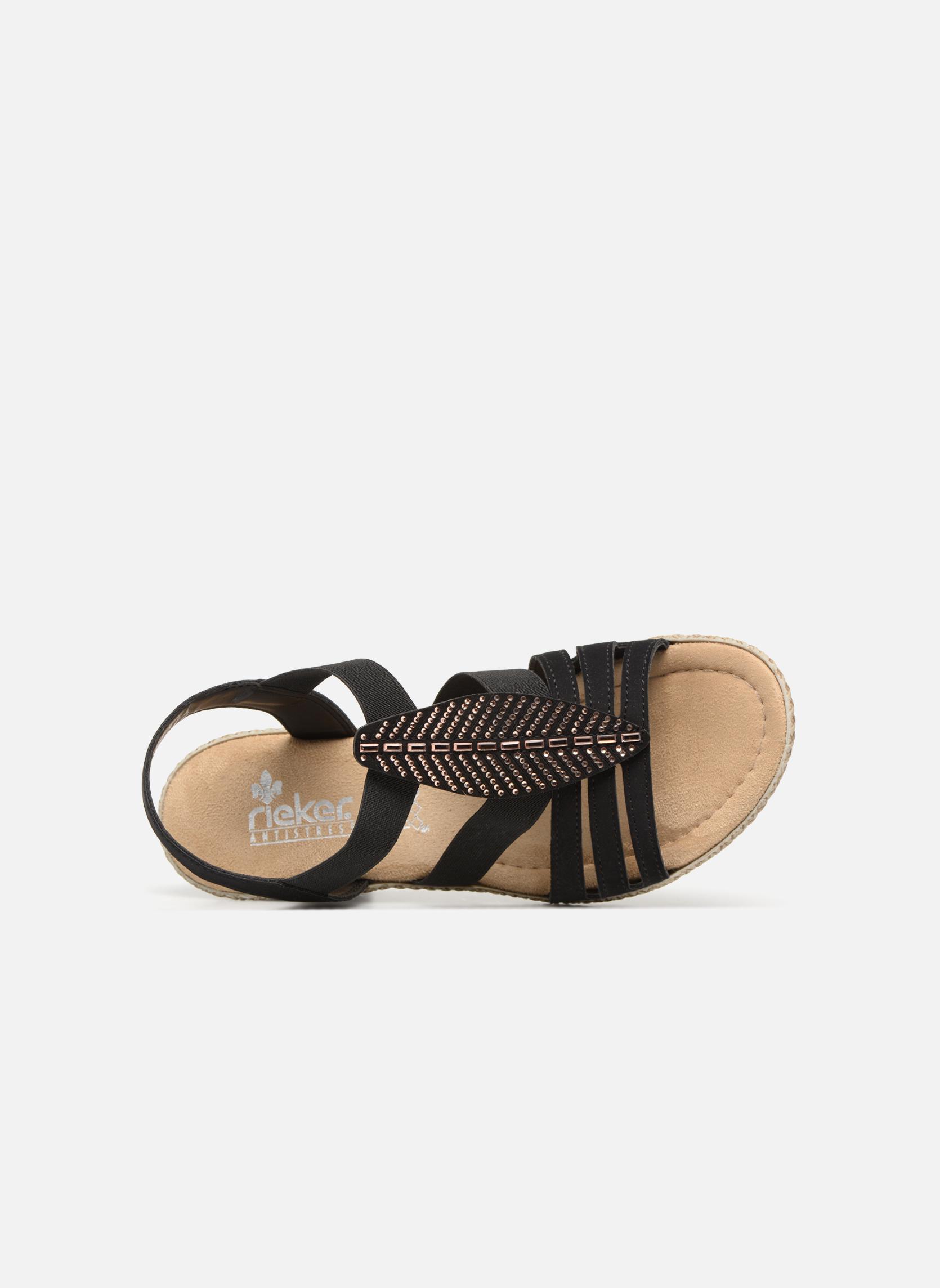 Sandales et nu-pieds Rieker Nayeli 66526 Noir vue gauche