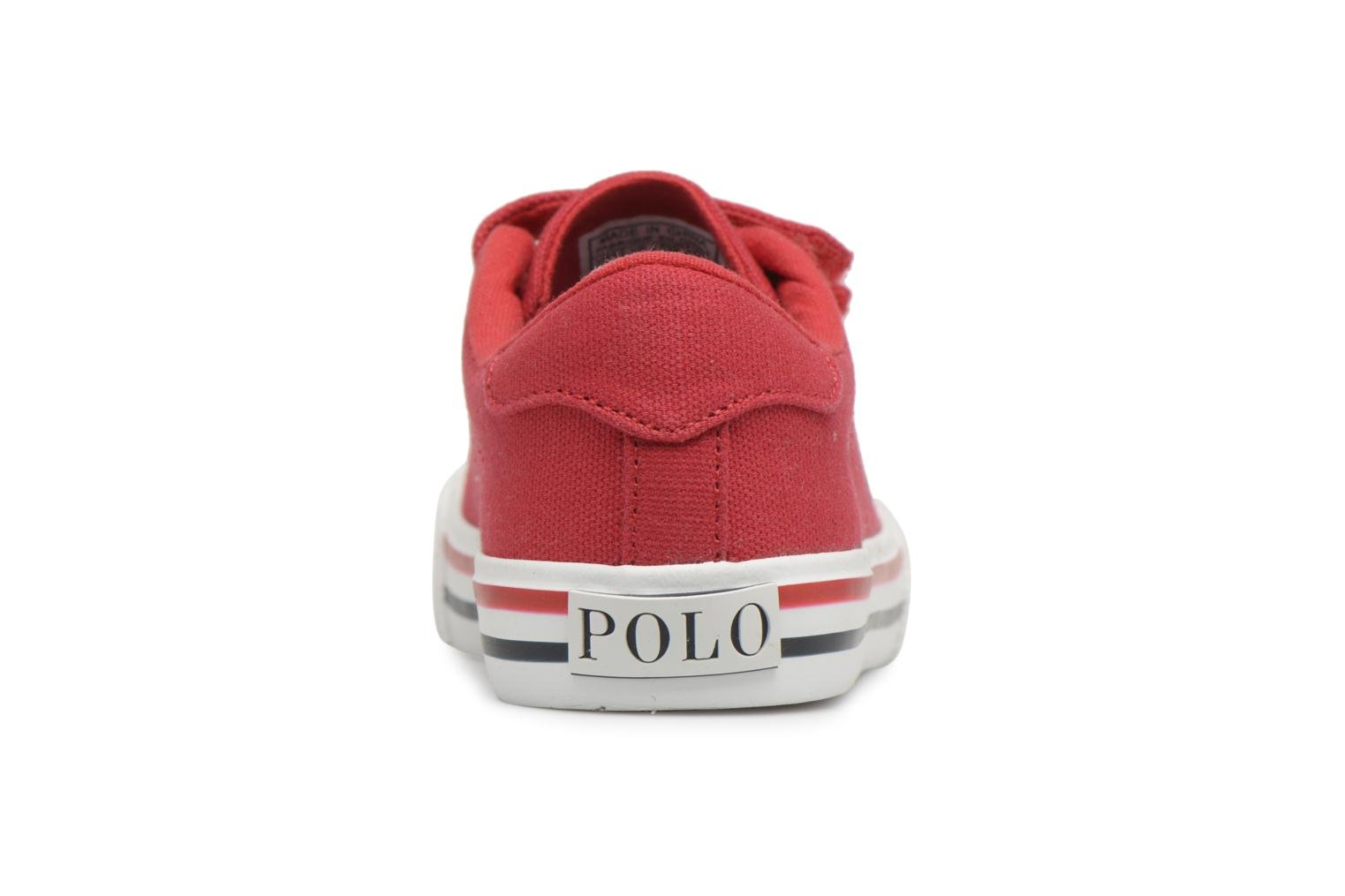 Trainers Polo Ralph Lauren Easten EZ Red view from the right