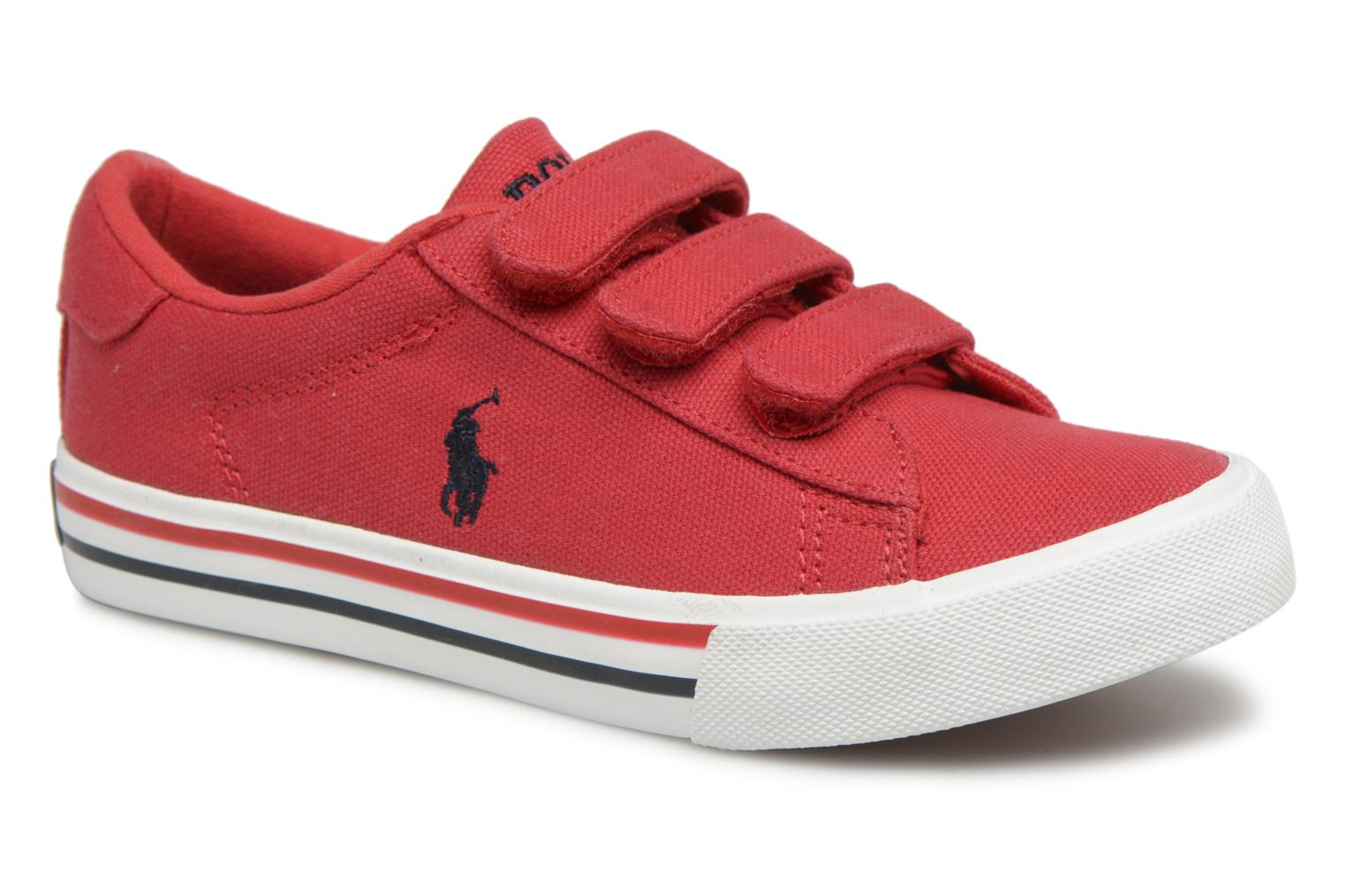 Trainers Polo Ralph Lauren Easten EZ Red detailed view/ Pair view