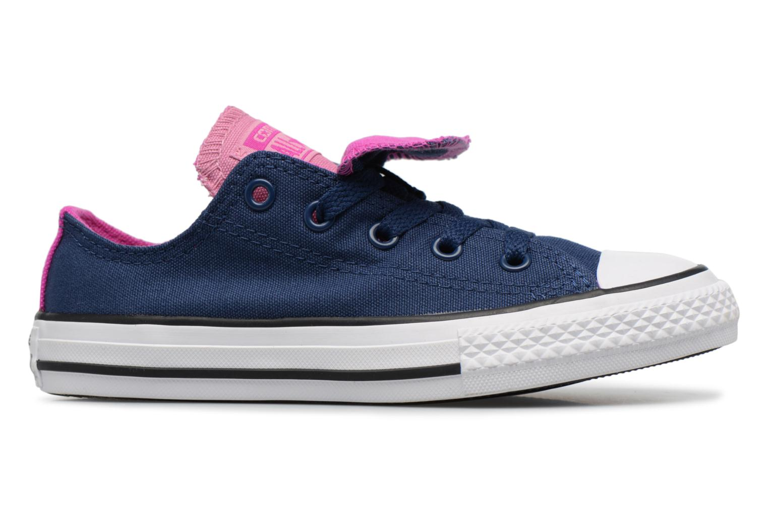 Baskets Converse Chuck Taylor All Star Double Tongue Ox Fundamentals Spring Bleu vue derrière