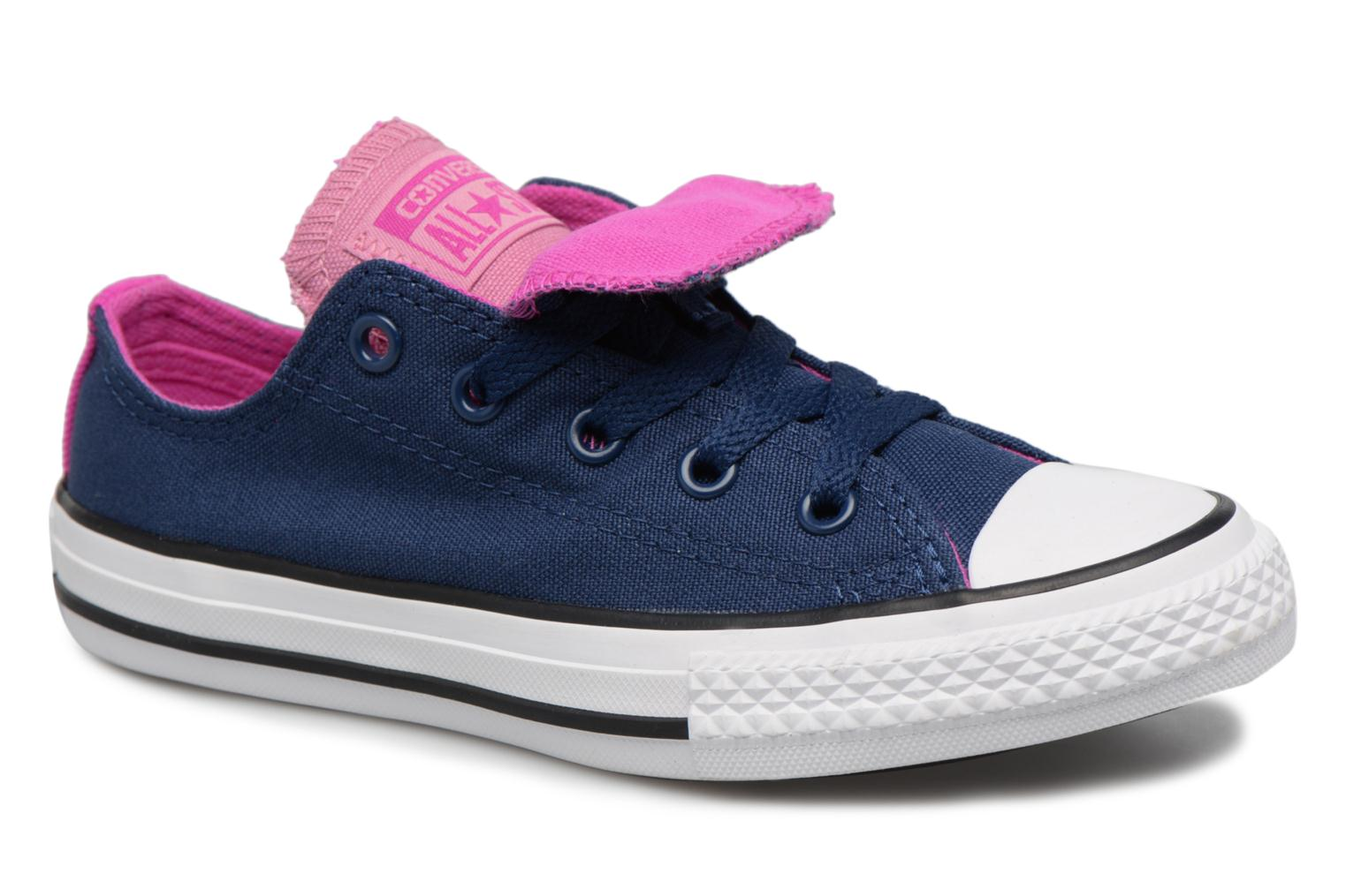 Converse - Kinder - Chuck Taylor All Star Double Tongue Ox Fundamentals Spring - Sneaker - blau