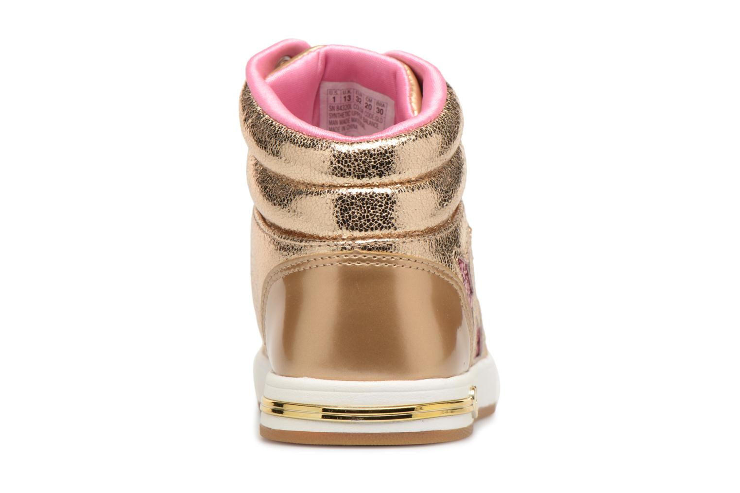 Baskets Skechers Shoutouts Starry Shine Or et bronze vue droite