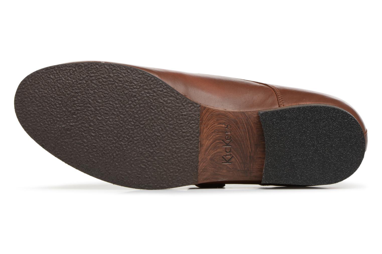 Chaussures à lacets Kickers GAMBETTA Marron vue haut