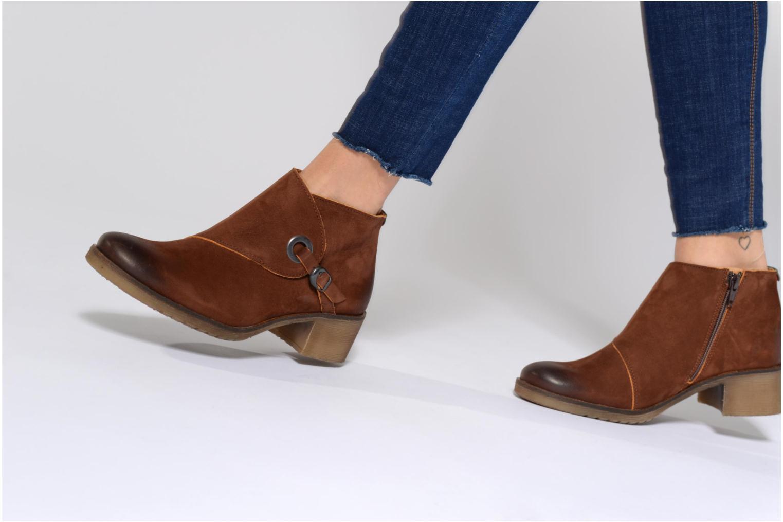 Bottines et boots Kickers MISS Noir vue bas / vue portée sac