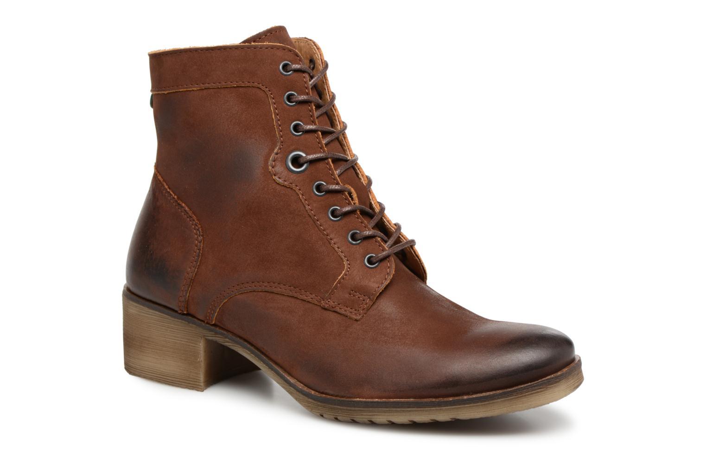 Bottines et boots Kickers MISSING Marron vue détail/paire