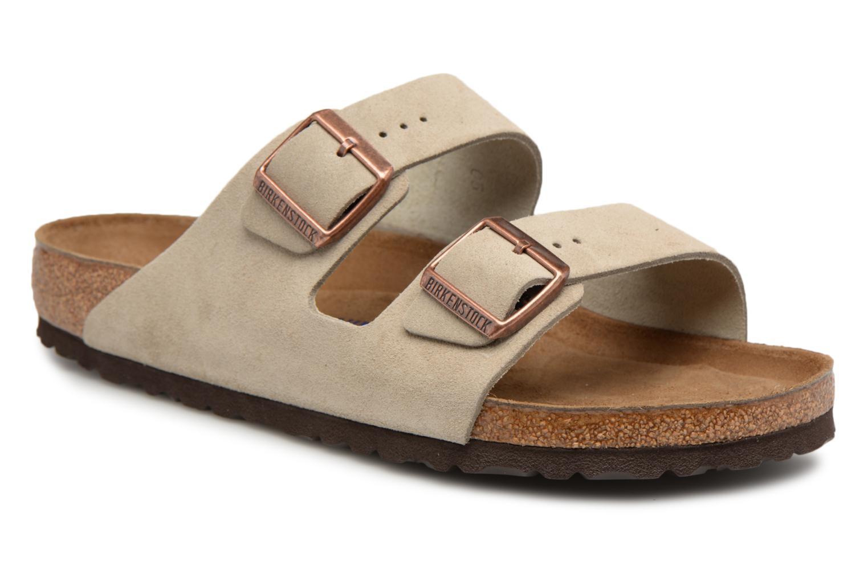 Grandes descuentos últimos zapatos Birkenstock Arizona Cuir Suede Soft Footbed M (Marrón) - Sandalias Descuento