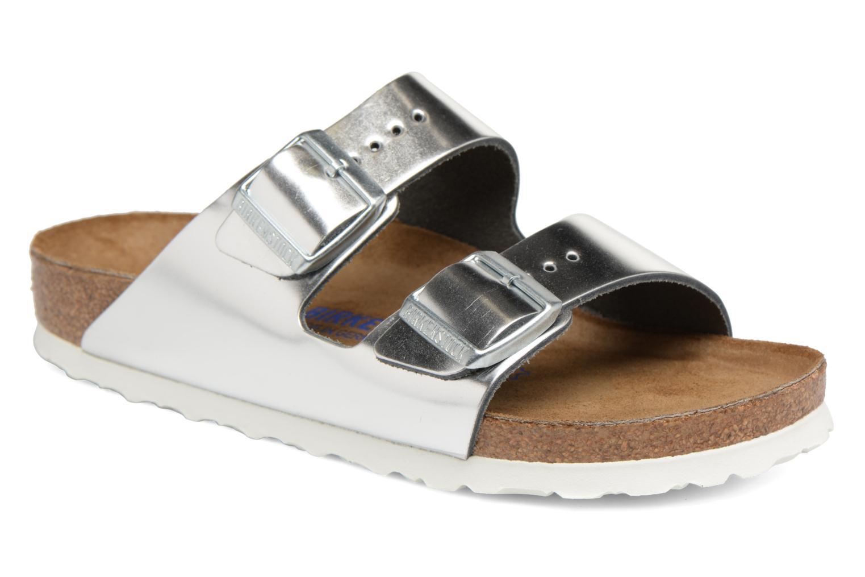 Zapatos especiales para hombres Cuir y mujeres Birkenstock Arizona Cuir hombres Soft Footbed W (Plateado) - Zuecos en Más cómodo 6049d6