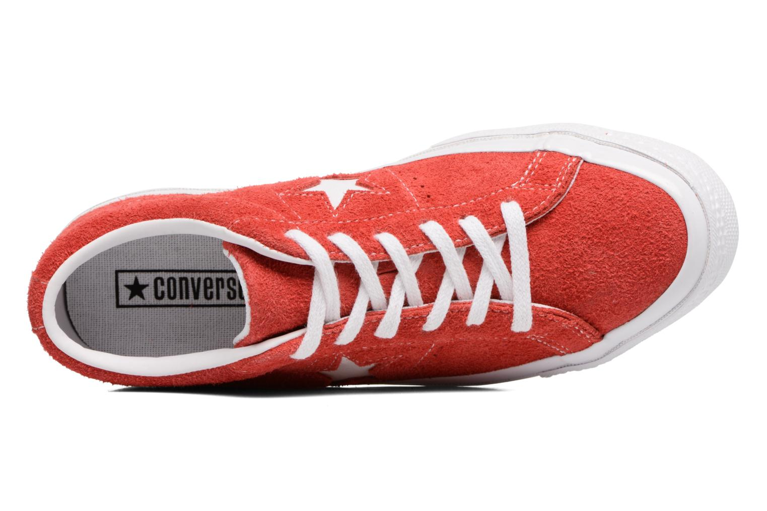 Baskets Converse One Star OG Suede Ox W Rouge vue gauche
