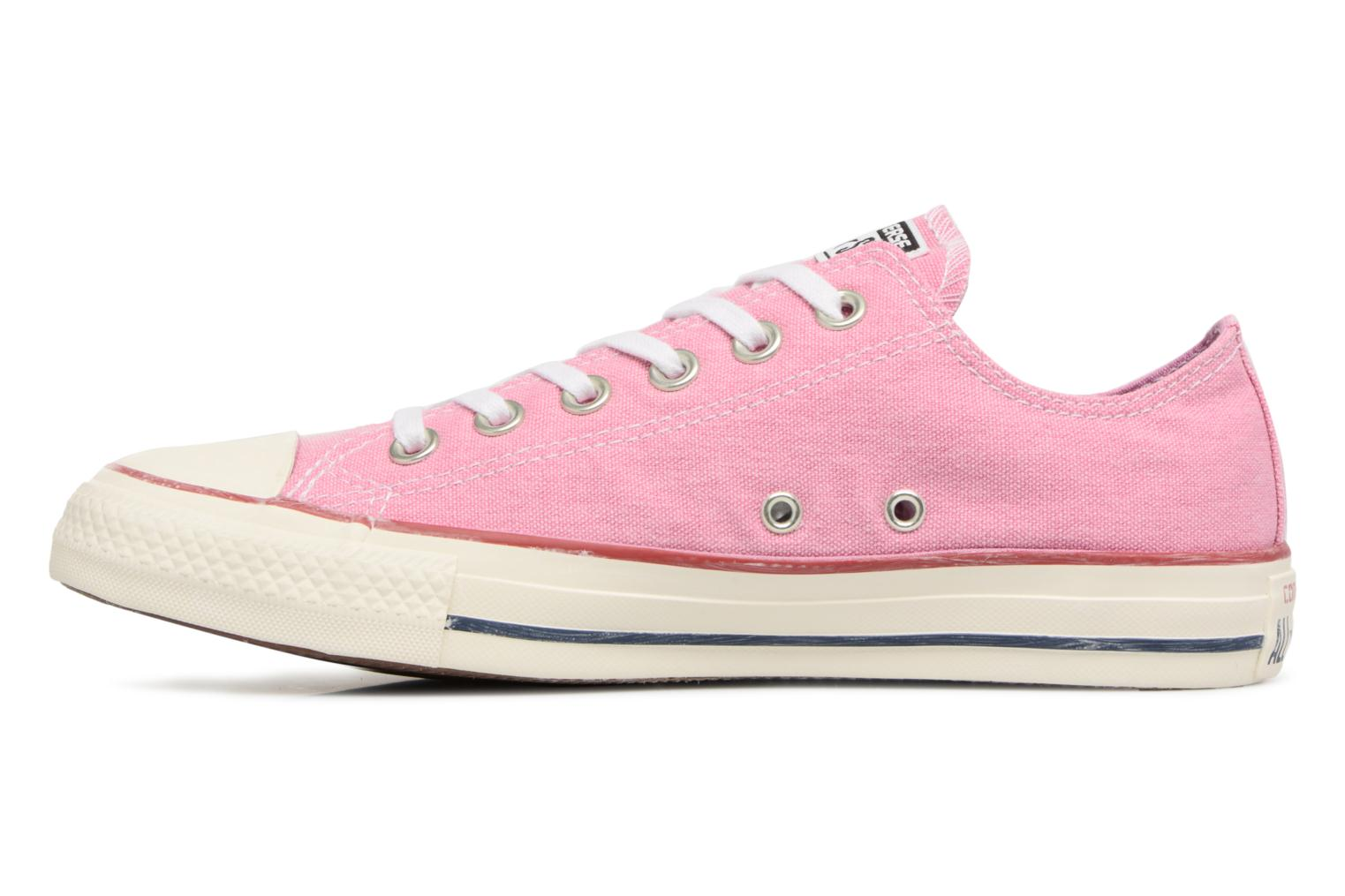 Baskets Converse Chuck Taylor All Star Stone Wash Ox W Rose vue face