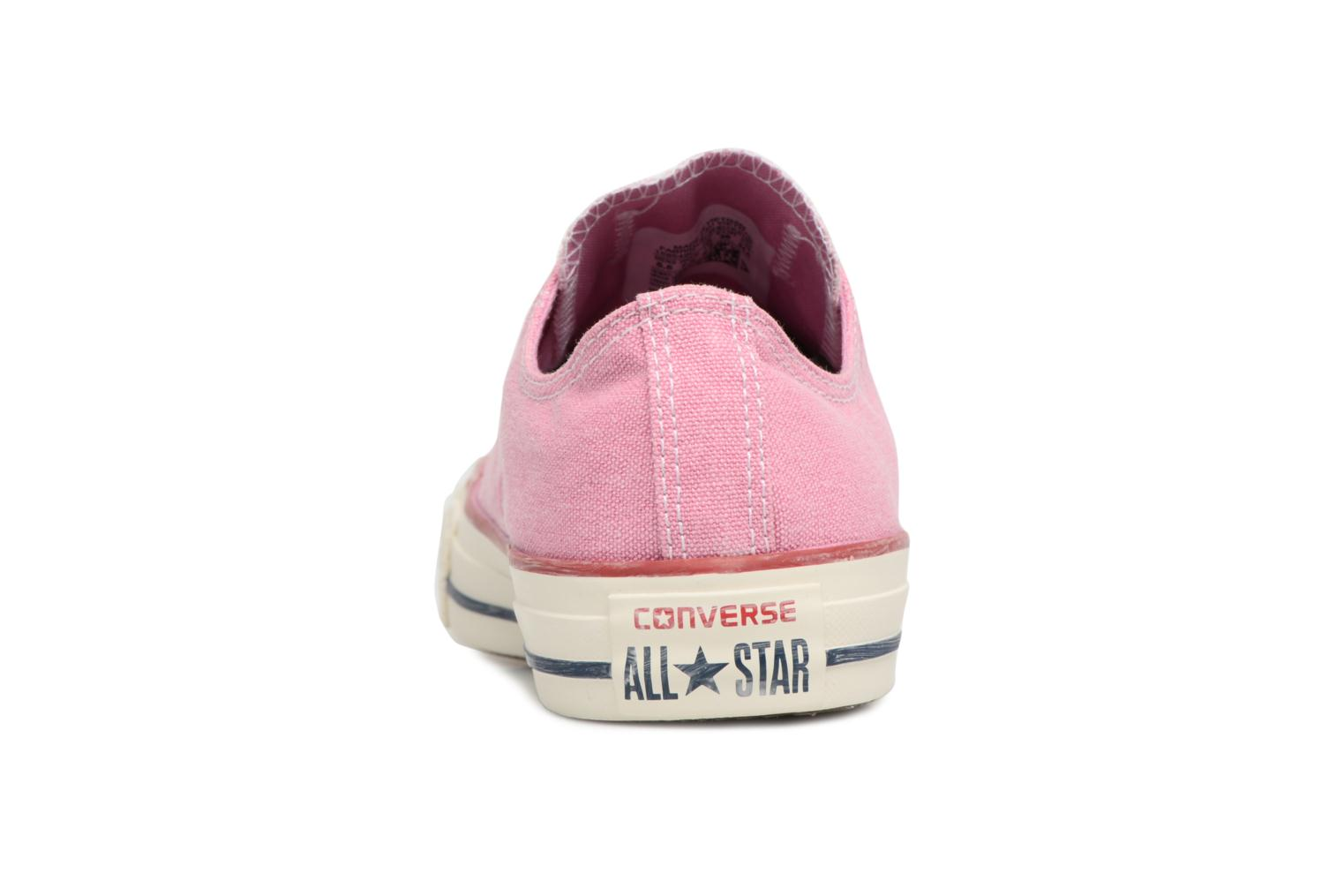 Baskets Converse Chuck Taylor All Star Stone Wash Ox W Rose vue droite