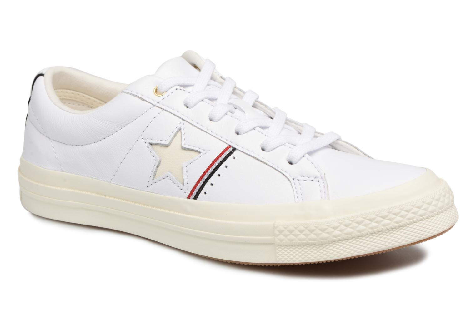 Baskets Converse One Star Piping Pack Ox W Blanc vue détail/paire