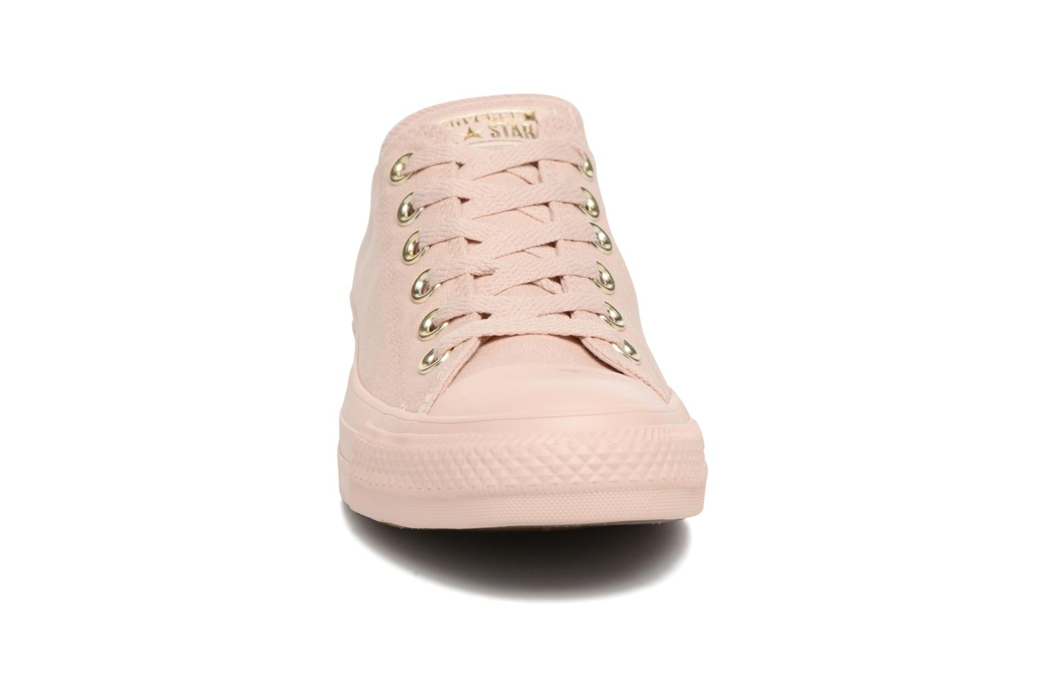 Sneakers Converse Chuck Taylor All Star Mono Glam Canvas Color Ox W Rosa modello indossato