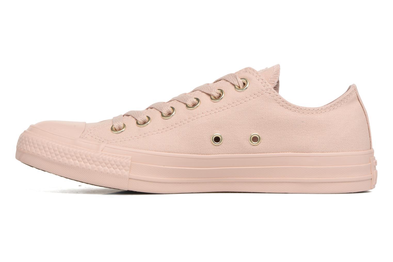 Sneakers Converse Chuck Taylor All Star Mono Glam Canvas Color Ox W Rosa bild från framsidan