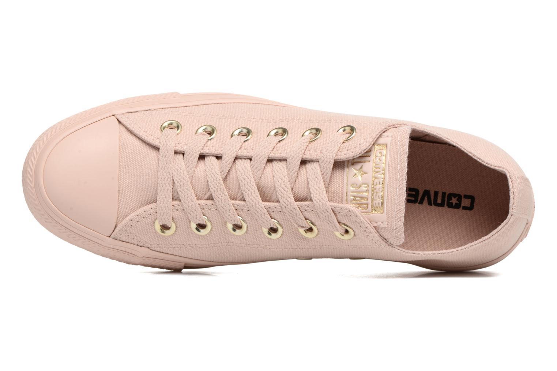 Sneakers Converse Chuck Taylor All Star Mono Glam Canvas Color Ox W Rosa bild från vänster sidan