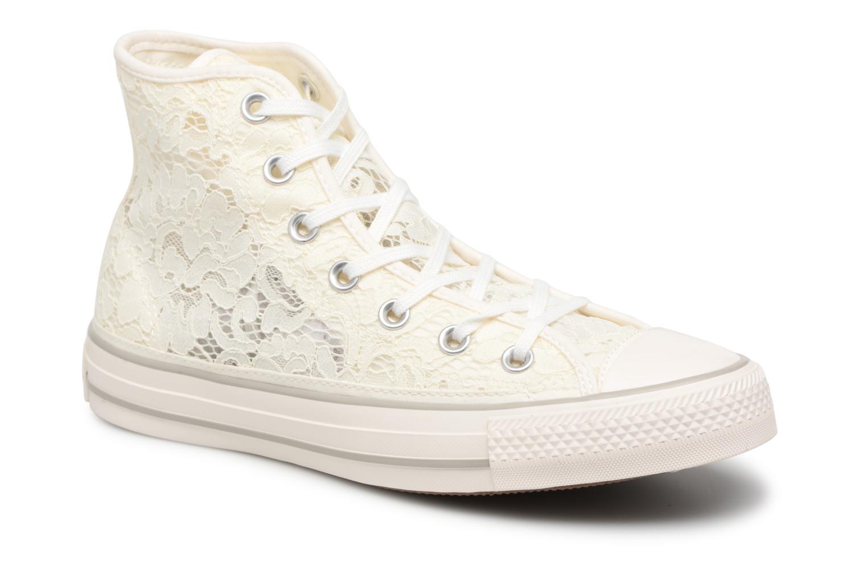 Baskets Converse Chuck Taylor All Star Flower Lace Hi Blanc vue détail/paire