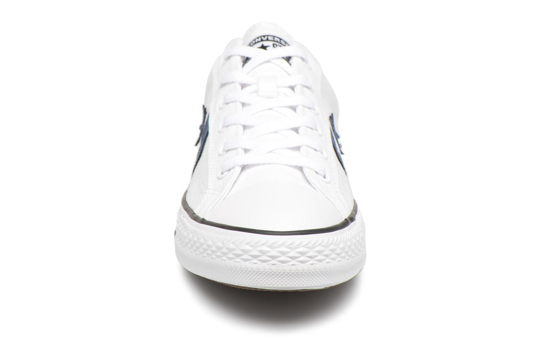 Baskets Converse Star Player Summer Twill Ox Blanc vue portées chaussures