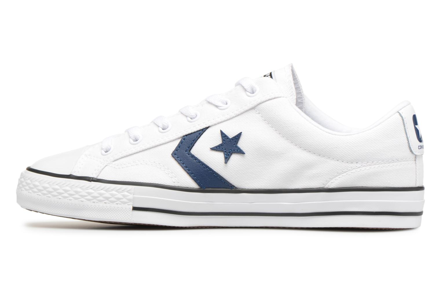 Sneakers Converse Star Player Summer Twill Ox Wit voorkant
