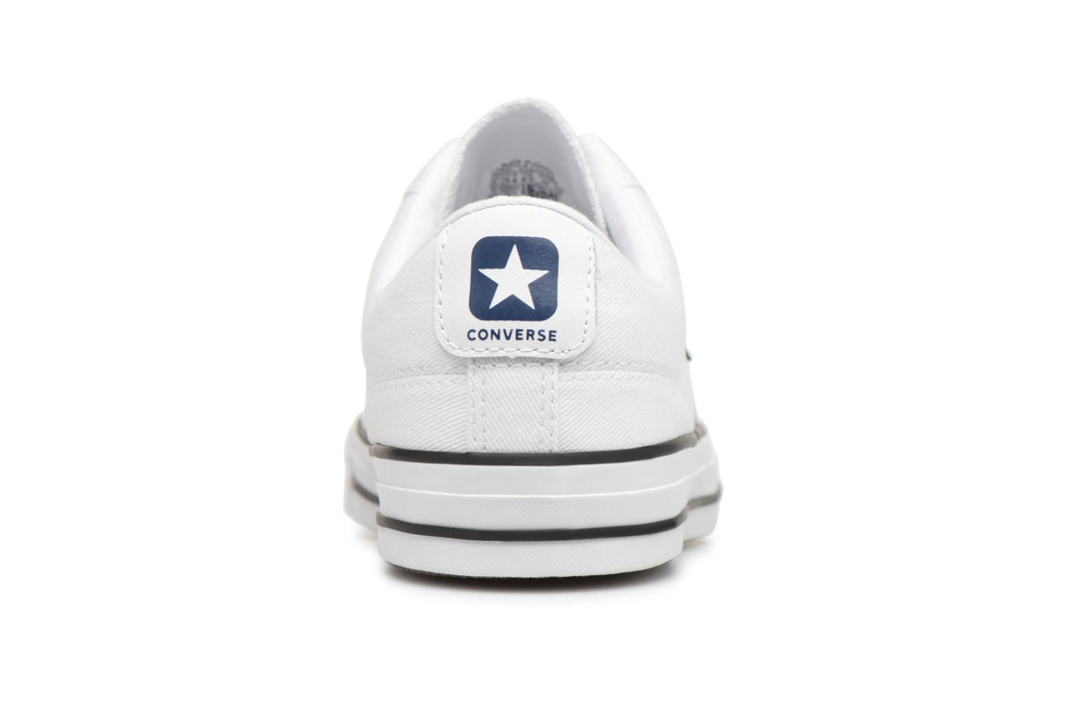 Sneakers Converse Star Player Summer Twill Ox Wit rechts