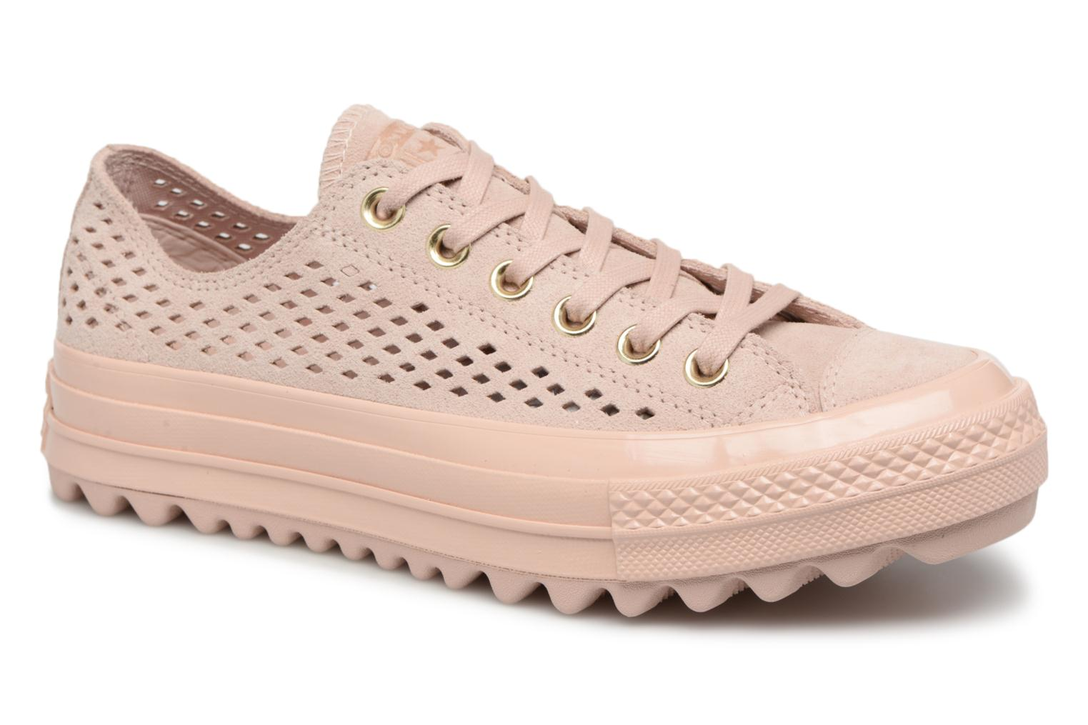 Marques Chaussure femme Converse femme Chuck Taylor All Star Lift Ripple Mono Perf Suede Ox Particle Beige