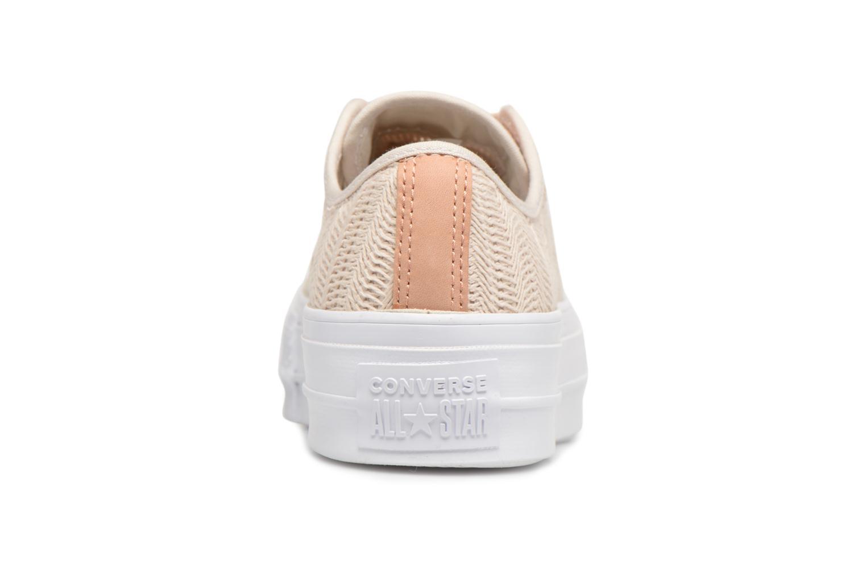 Grandes descuentos últimos zapatos Converse Chuck Taylor All Star Lift Herringbone Mesh Ox (Beige) - Deportivas Descuento