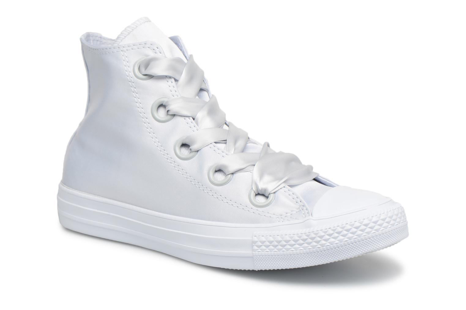 Sneakers Converse Chuck Taylor All Star Big Eyelets Satin Hi Bianco vedi dettaglio/paio