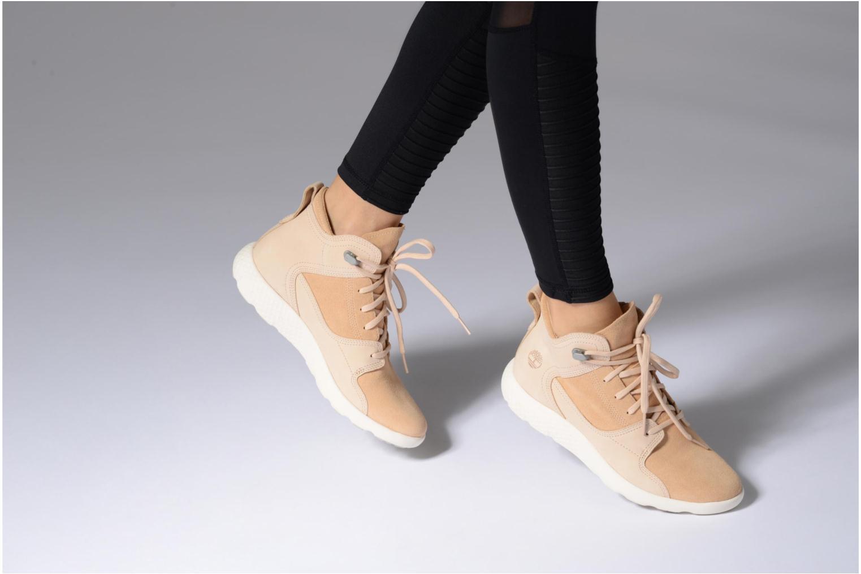 Stiefeletten & Boots Timberland FlyRoam Hiker beige ansicht von unten / tasche getragen