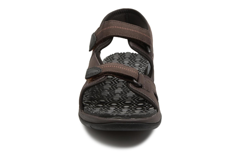 Sandalen Timberland Harbor Pines Sport Sandal braun schuhe getragen
