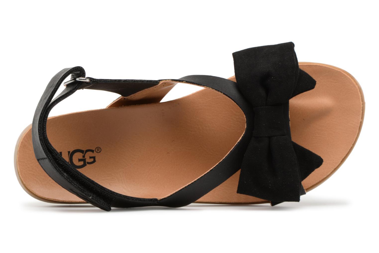 Sandales et nu-pieds UGG Fonda Noir vue gauche