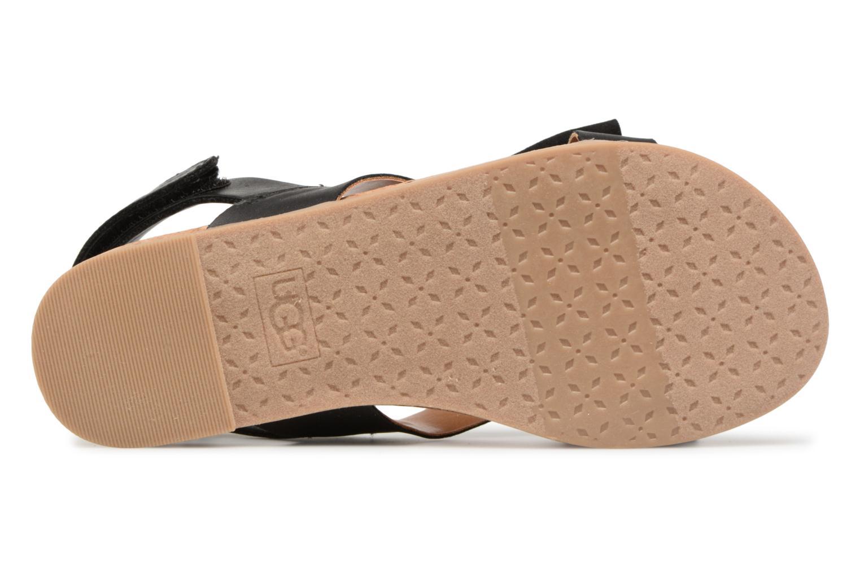 Sandales et nu-pieds UGG Fonda Noir vue haut