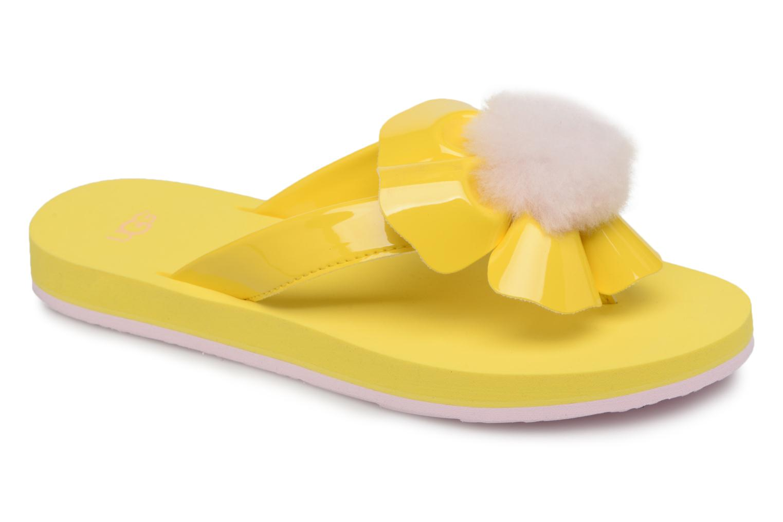 Slippers UGG Poppy Geel detail