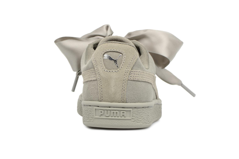 Baskets Puma Suede Heart Pebble Wn's Gris vue droite