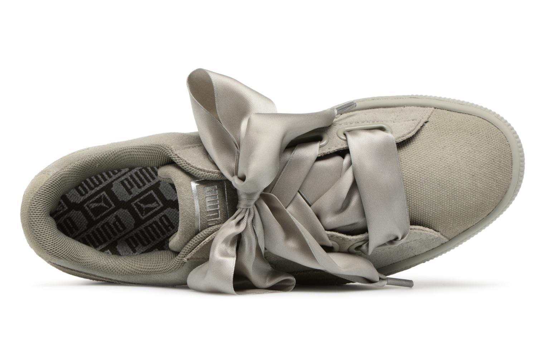 Baskets Puma Suede Heart Pebble Wn's Gris vue gauche