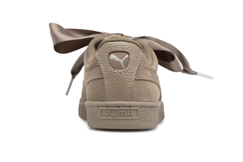 Baskets Puma Suede Heart Bubble Wn's Vert vue droite
