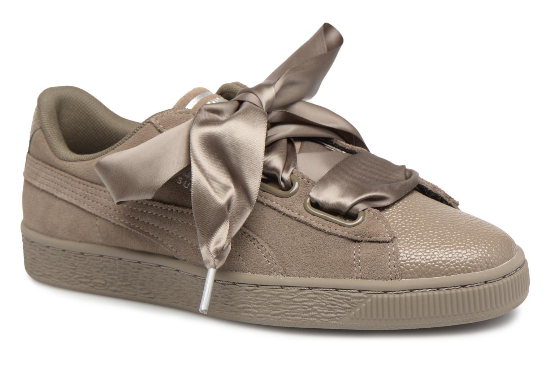 Zapatos promocionales Puma Suede Heart Bubble Wn's (Verde) - Deportivas   Zapatos casuales salvajes