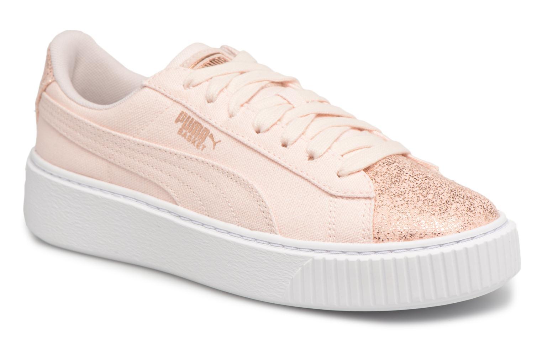 Zapatos promocionales Puma Basket Platform Canvas Wn's (Rosa) - Deportivas   Los zapatos más populares para hombres y mujeres