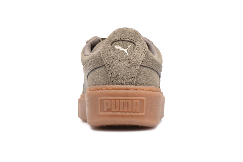 Baskets Puma Suede Platform Bubble Wn's Gris vue droite