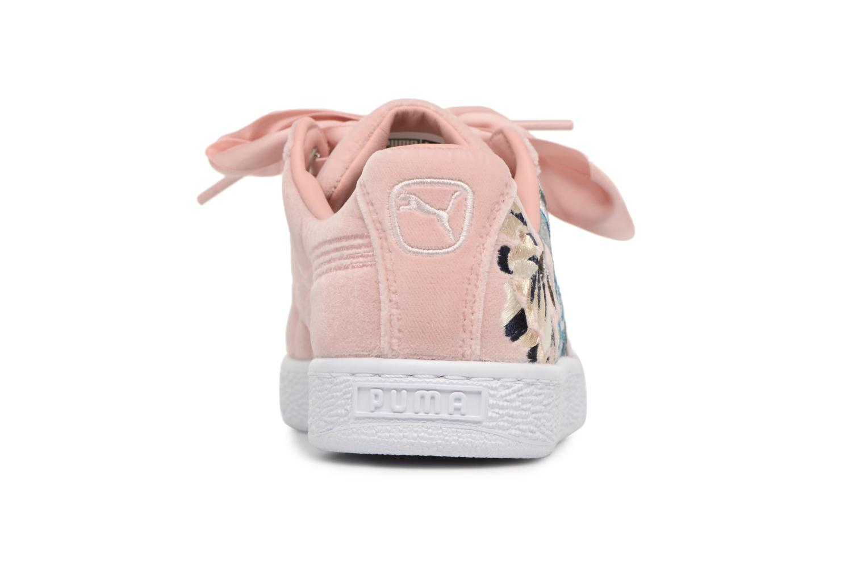 Baskets Puma Suede Heart Hyper Emb Rose vue droite