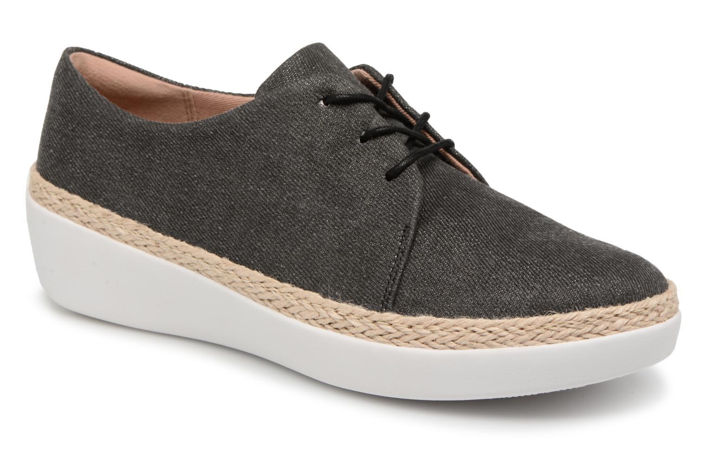Grandes - descuentos últimos zapatos FitFlop Superderby Shimmer (Negro) - Grandes Zapatos con cordones Descuento 703e12