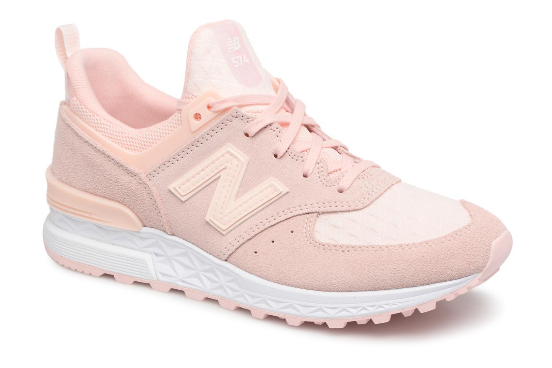 new balance beige met roze