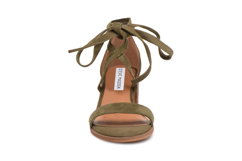Sandales et nu-pieds Steve Madden Rizzaa Sandal Vert vue portées chaussures