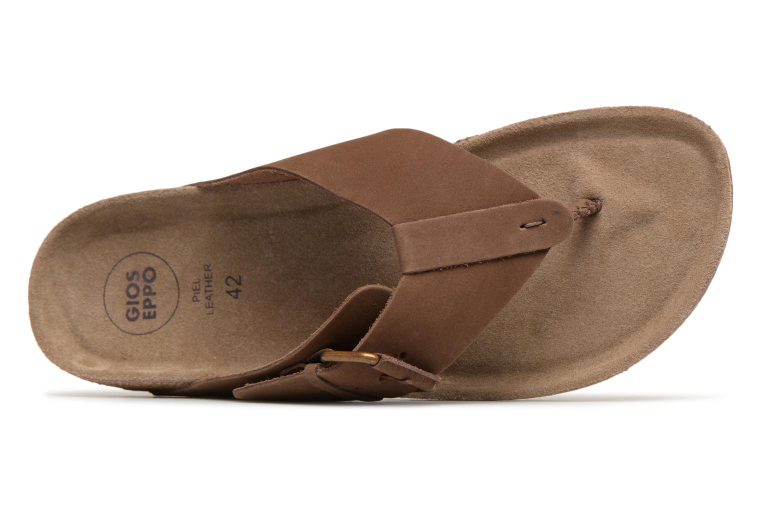 Flip flops Gioseppo KEYLO Brown view from the left