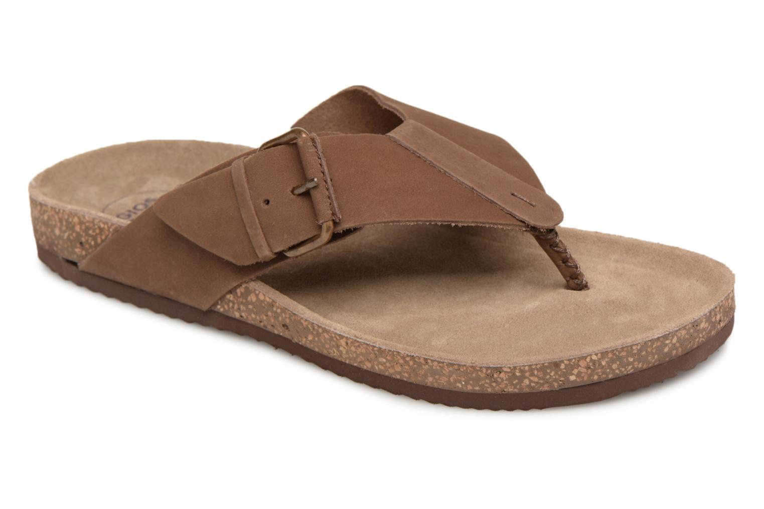 Flip flops Gioseppo KEYLO Brown detailed view/ Pair view